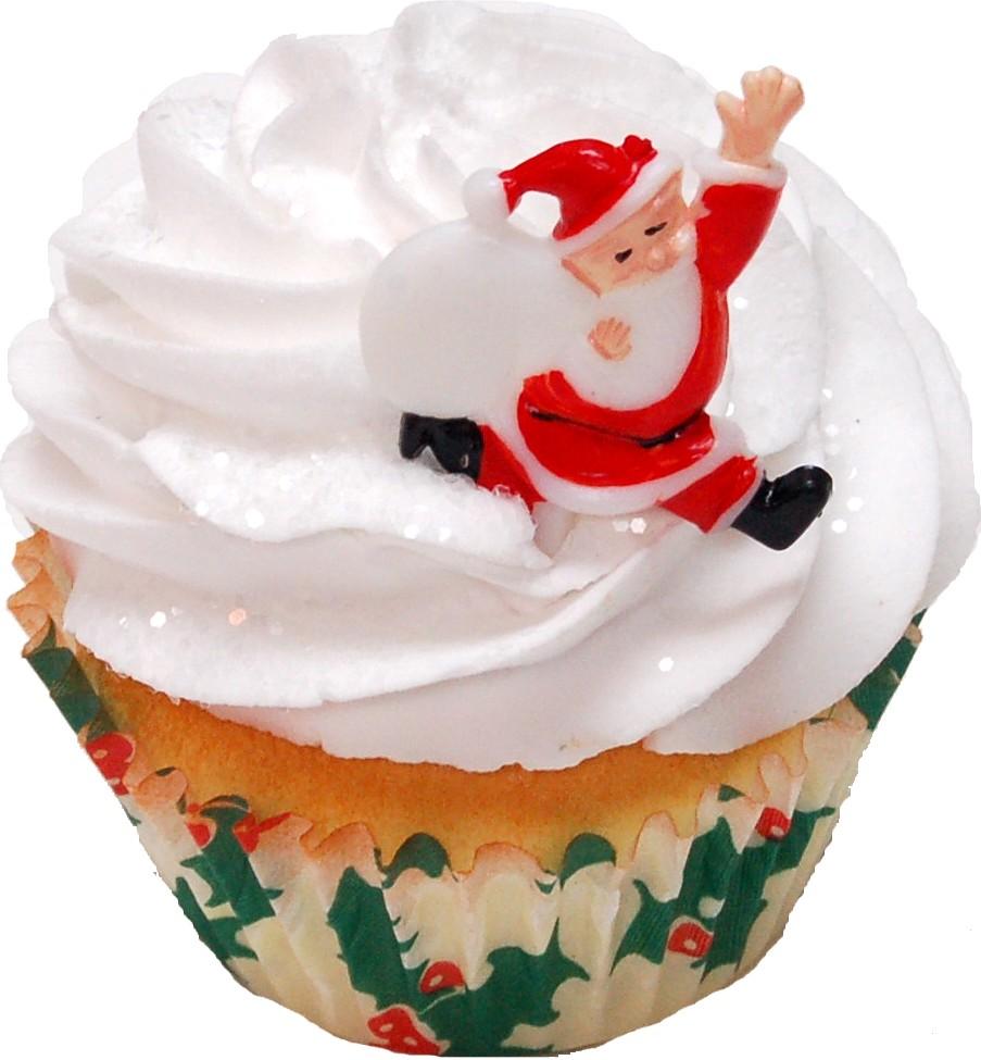 Santa Christmas Fake Cupcake