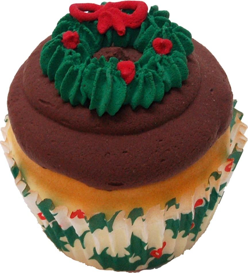 Christmas Wreath Fake Cupcake