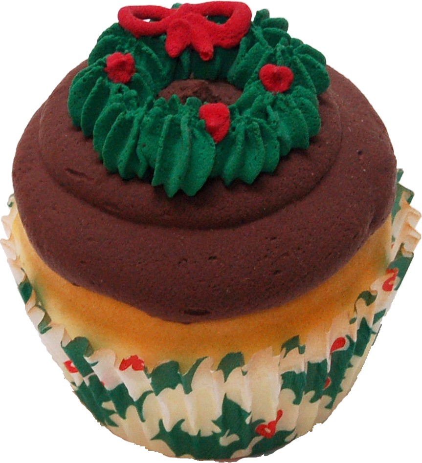 Christmas Fake Wreath Cupcake