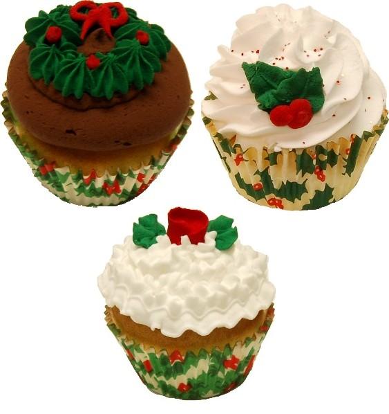 Fake Cupcakes 3 Pack Christmas Cupcake Assortment U.S.A.