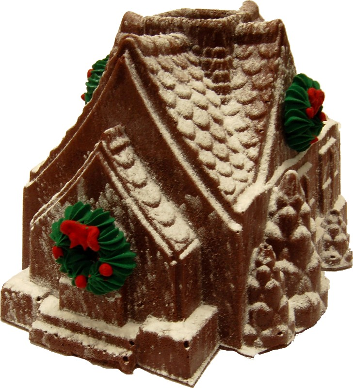 Christmas gingerbread house fake food d