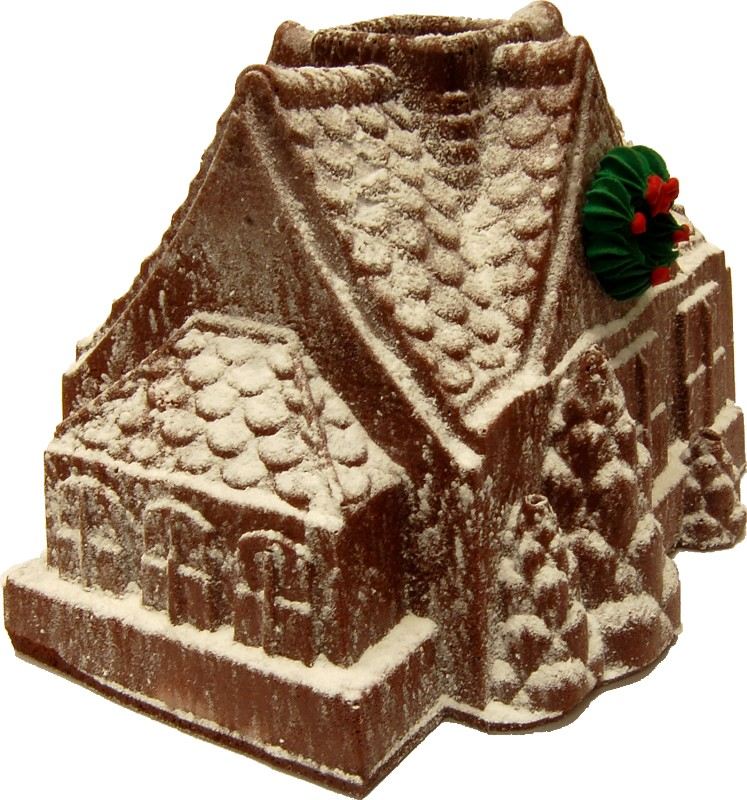 Christmas gingerbread house fake food b