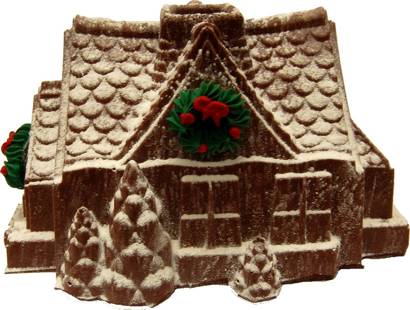 Christmas gingerbread house fake food a