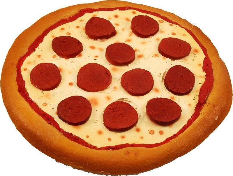 fake pizza pepperoni