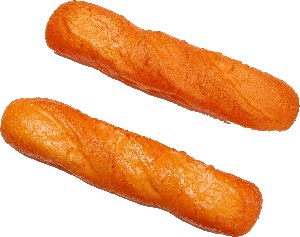 """Baguette Small Fake Bread 12"""" Two Pack"""