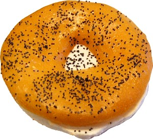 Cream Cheese Fake Bagel Poppy Seed