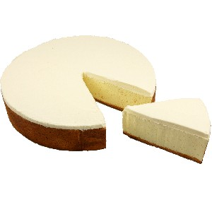 New York Fake Food Cheesecake with Slice 10 Inch USA
