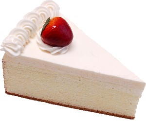 Strawberry Fake Cheesecake Slice