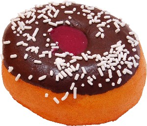 Large Chocolate Fake Jelly Doughnut Soft Touch