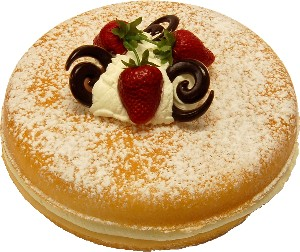 Vanilla two layer sponge fake cake USA
