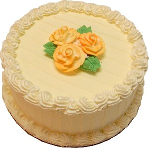 Lemon Designer Rose Fake Cake 9 inch U.S.A.
