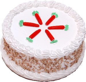 Carrot Fake Cake Passion Cake with Nuts 9 inch USA