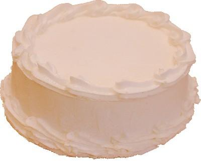 Fake White Cake Blank 9 inch