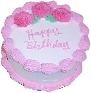 Pink Birthday fake cake 9 inch USA
