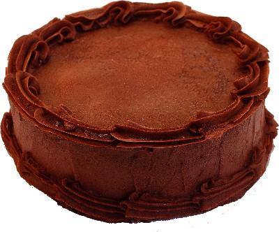 Fake Dark Chocolate Cake Blank 9 inch