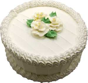 Vanilla Flower fake cake 9 inch USA