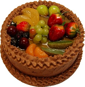 Chocolate Fake Fruit Cake
