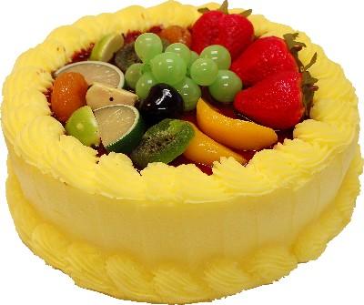 Spring Yellow Fake Fruit Cake 9 inch