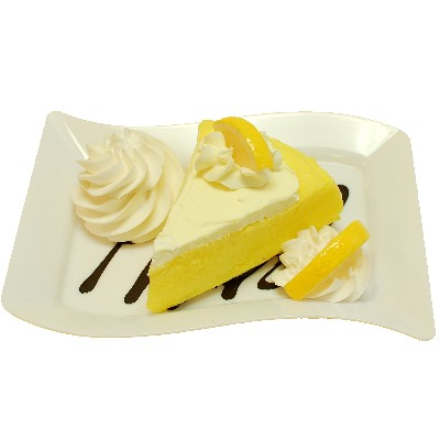 Fake Lemon Cake Fake Dessert Plate Display Prop