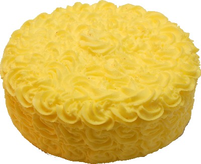Artificial Spring Yellow Rose Cake 9 inch