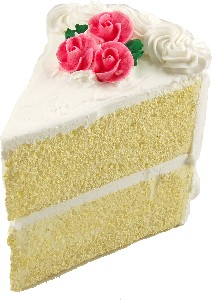 Vanilla cake slice large USA