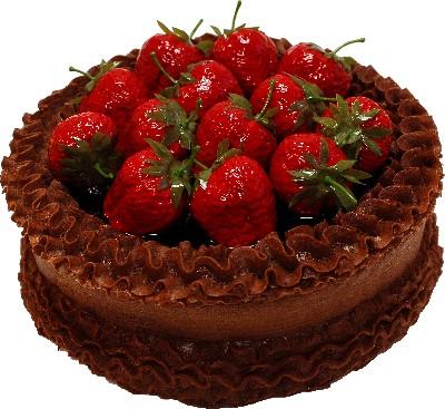 Strawberry Top Chocolate Fake Cake 9 inch
