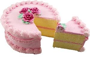 Cherry Fake Cake with Slice 9 Inch