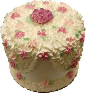 White Flower Tall Cake 9 inch USA