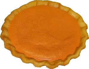 Pumpkin Pie Plain Artificial Pie Fake Pie USA