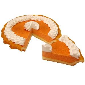 Pumpkin Pie Cream Artificial Pie with Slice Fake Pie