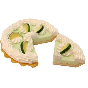 Key Lime Cream Artificial Pie with Slice Fake Pie