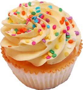 Yellow Sprinkle Fake Cupcake