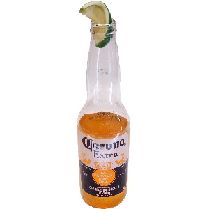 Beer Bottle with Lime Fake Drink