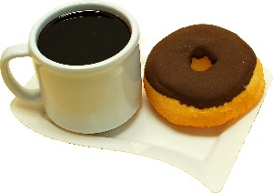 Fake Coffee Mug and Doughnut on Plate
