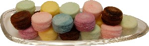 Fake Macaroon 20 Pack Assorted with Glass Dish USA