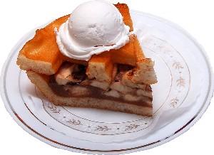 Apple Fake Pie Slice Ala Mode Plate