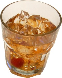 Old Fashioned Whiskey Glass fake drink USA
