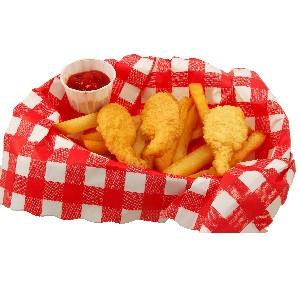Fake Fried Shrimp French Fries In Basket