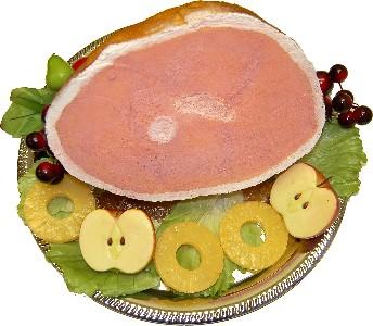 Ham Roasted fake food Tray USA