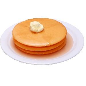 Pancakes 3 stack fake food Plate USA
