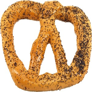 Pretzel Fake Food Large 6 inch Poppy Seed
