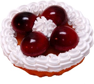 Cherry Fake Fruit Tarts 3 inch