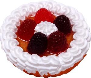 Berry Fake Fruit Tart 3 inch
