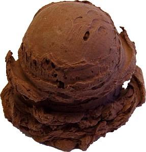 Chocolate 2 Scoop Fake Ice Cream NO CONE