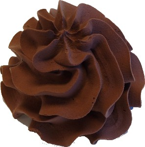Chocolate Soft Serve fake ice cream NO CONE