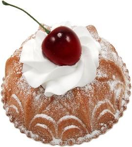 Small Bundt Cake Vanilla Fake Dessert with Box
