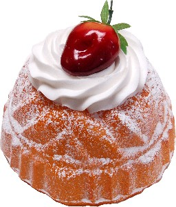 Large Bundt Cake Vanilla Strawberry Fake Dessert