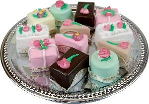 Mini Fakey Cakes 12 pack Assortment Petit Fours Fake Food