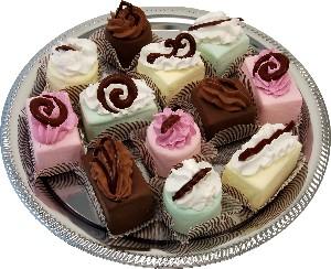 Mini Fakey Designer Cakes 12 pack Assortment Petit Fours USA