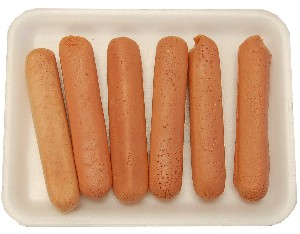 Raw Fake Hot Dogs 6 pack